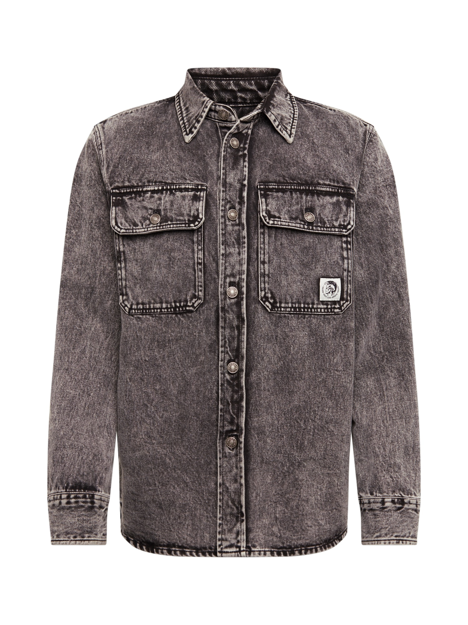 DIESEL Dalykiniai marškiniai 'S-Jessy' pilka