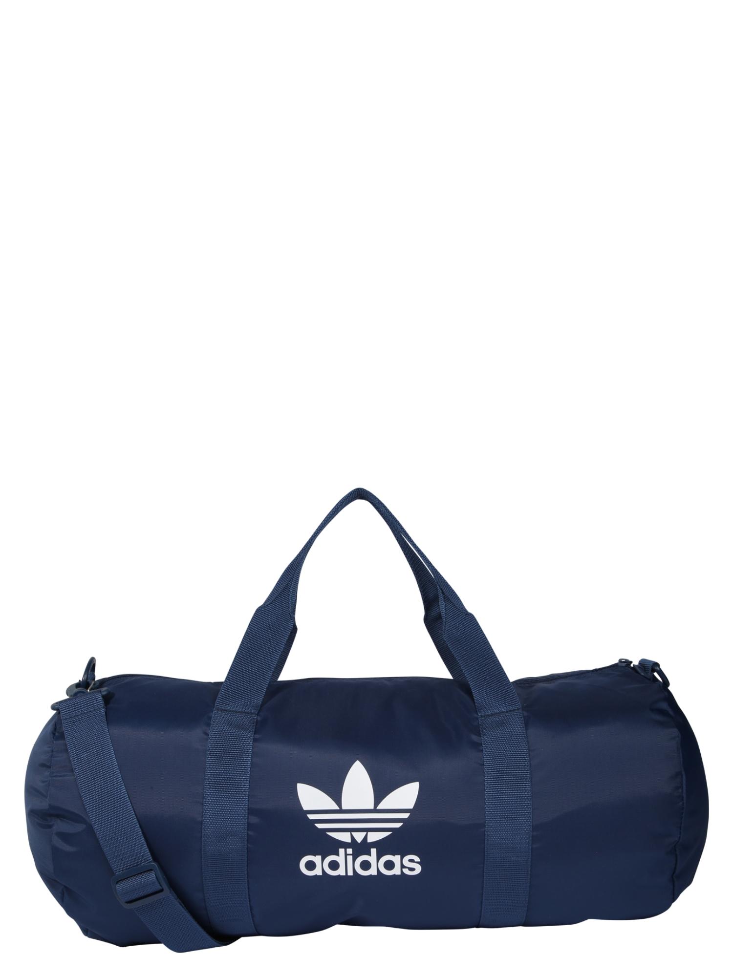 ADIDAS ORIGINALS Kelioninis krepšys 'AC DUFFLE' balta / tamsiai mėlyna