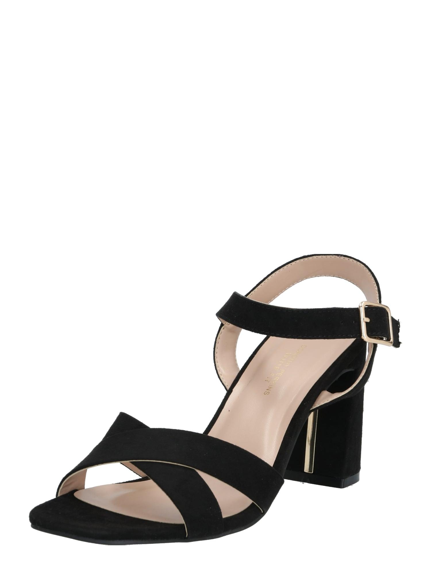 Dorothy Perkins Remienkové sandále  čierna