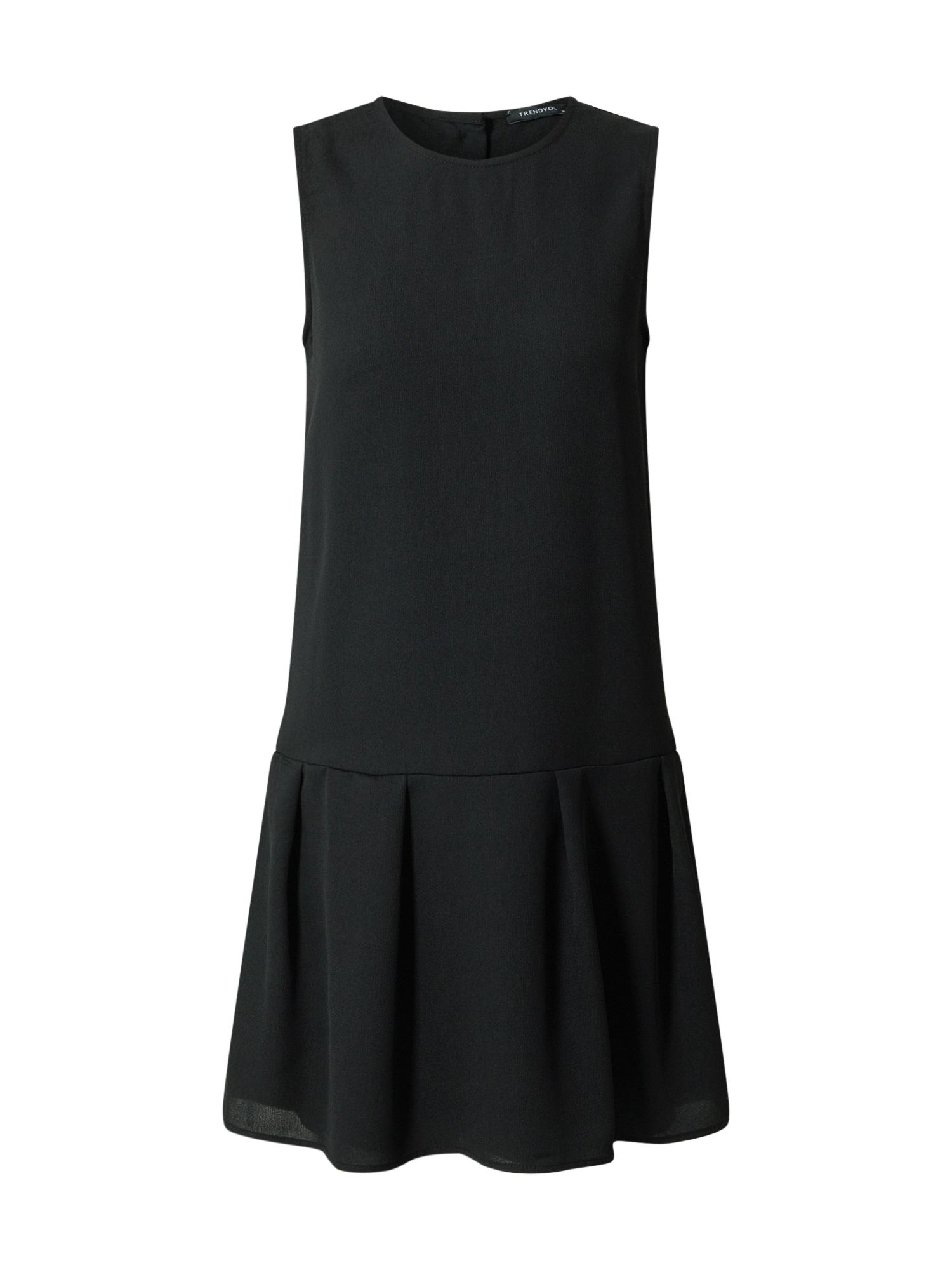 Trendyol Kokteilinė suknelė juoda