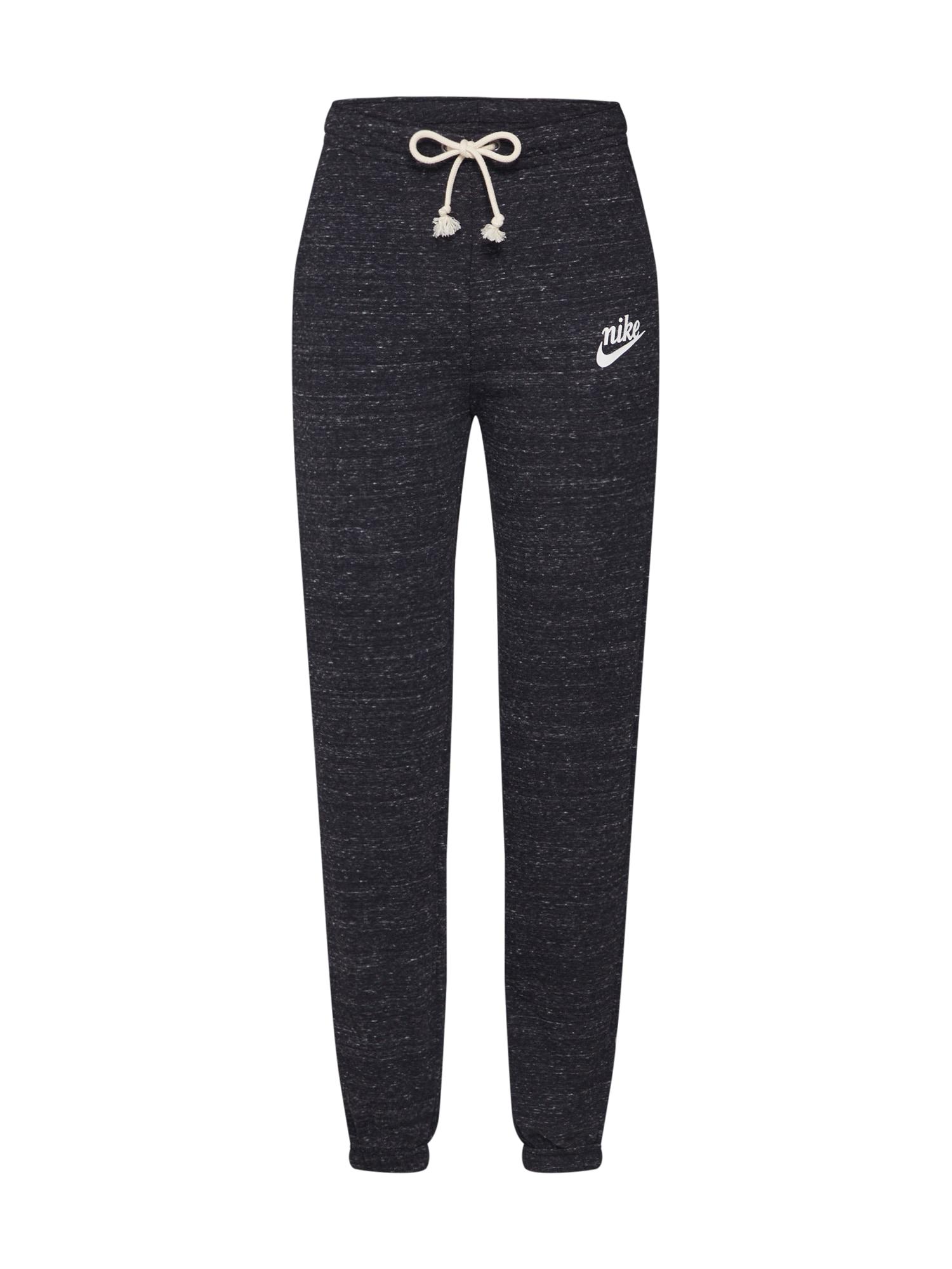 Nike Sportswear Kelnės 'W NSW GYM VNTG PANT' perlų balta / bazalto pilka