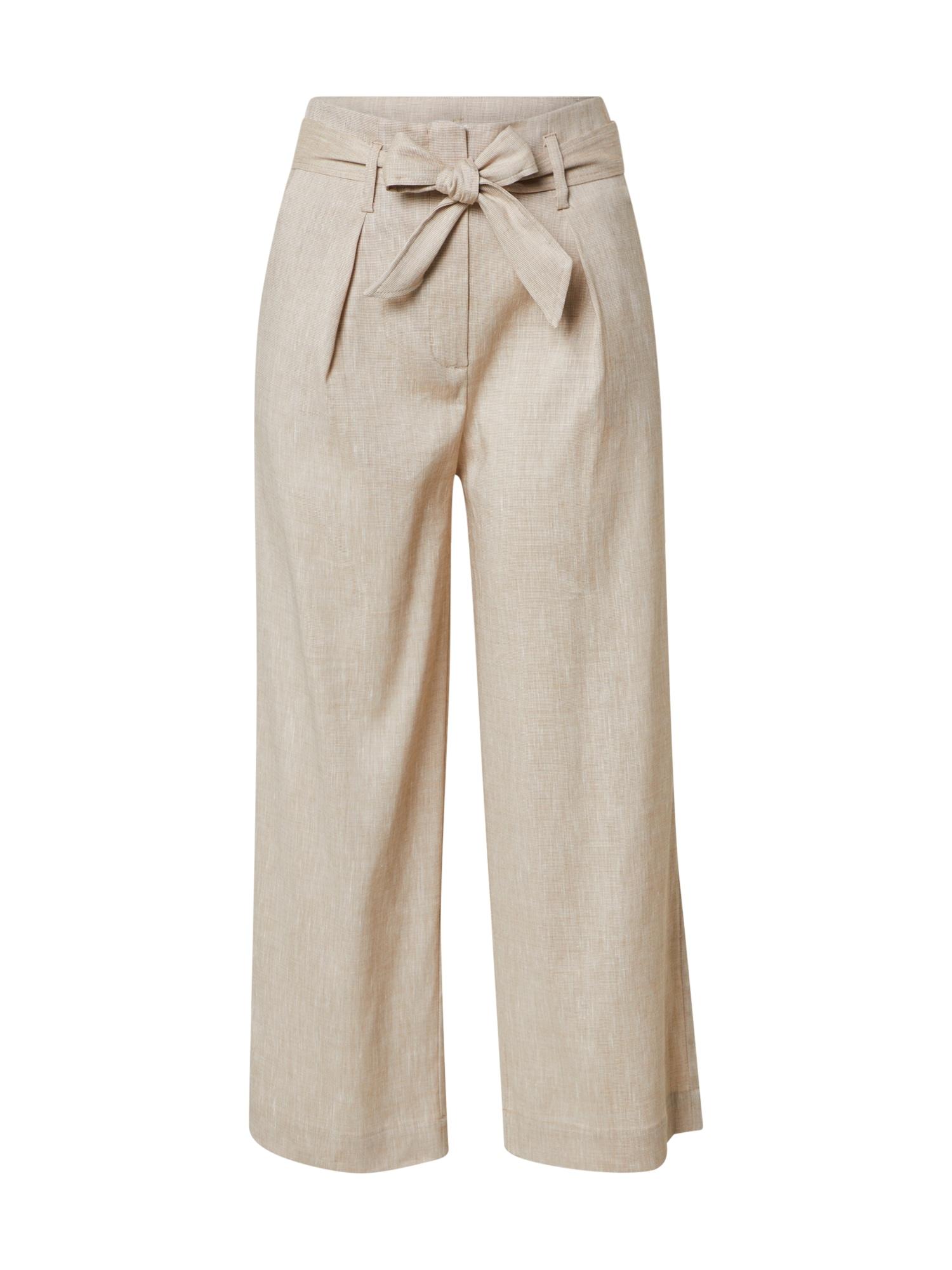 Someday Klostuotos kelnės 'Corelia' gelsvai pilka spalva