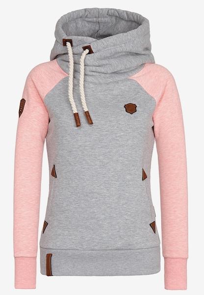 naketano sweater 39 so ein otto iii 39 in graumeliert rosa. Black Bedroom Furniture Sets. Home Design Ideas