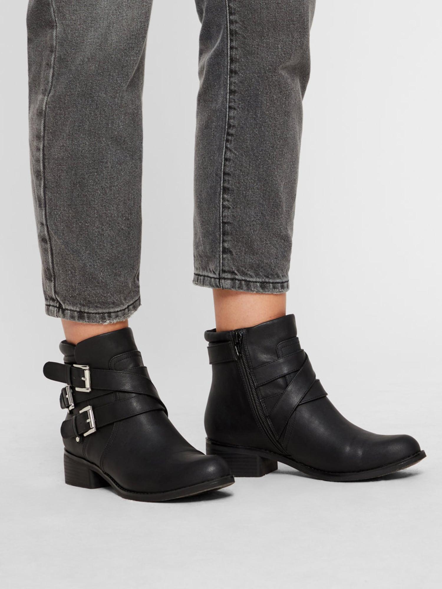 Bianco, Damen Boots, zwart
