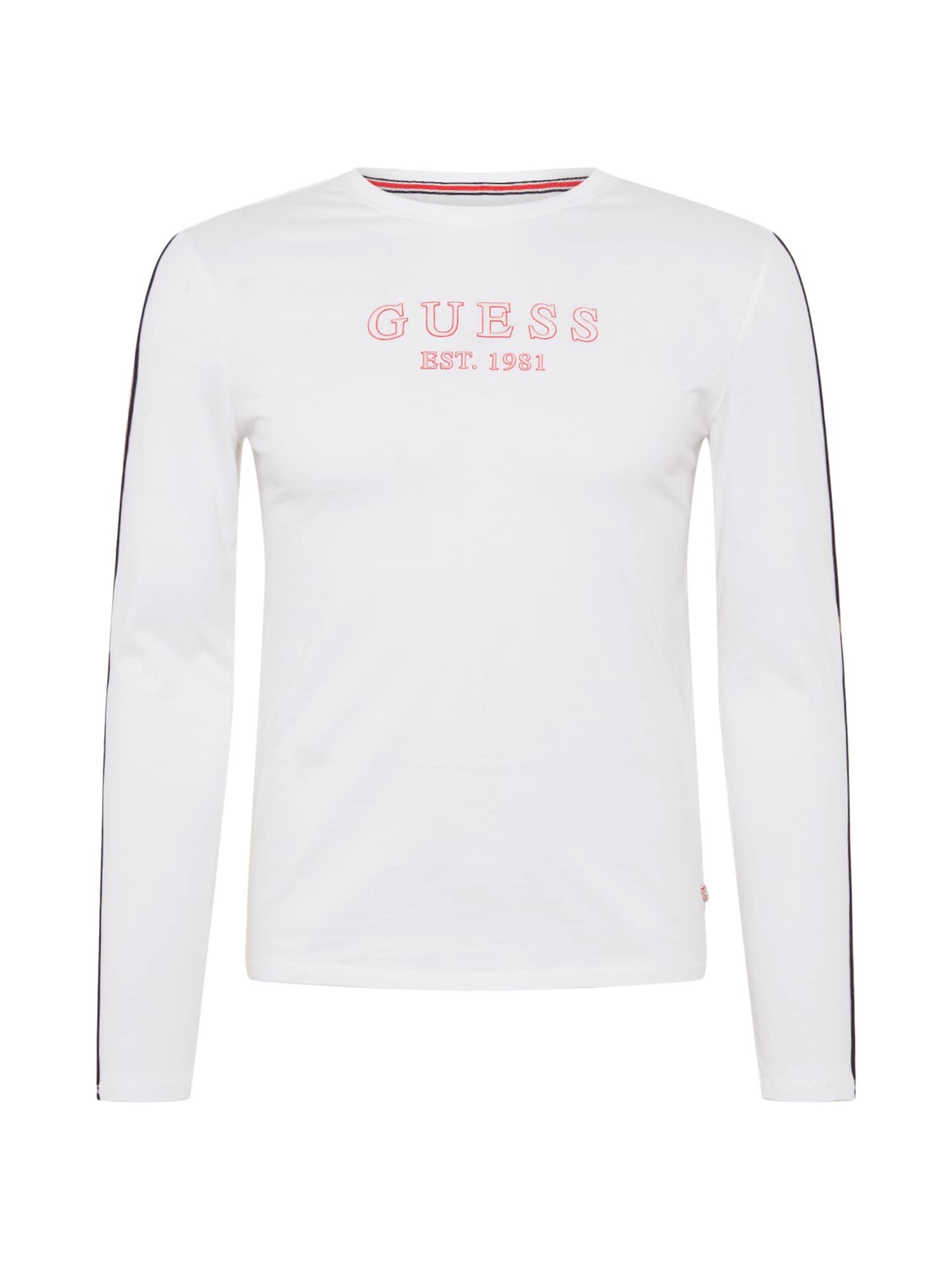 GUESS Marškinėliai balta / mėlyna / raudona