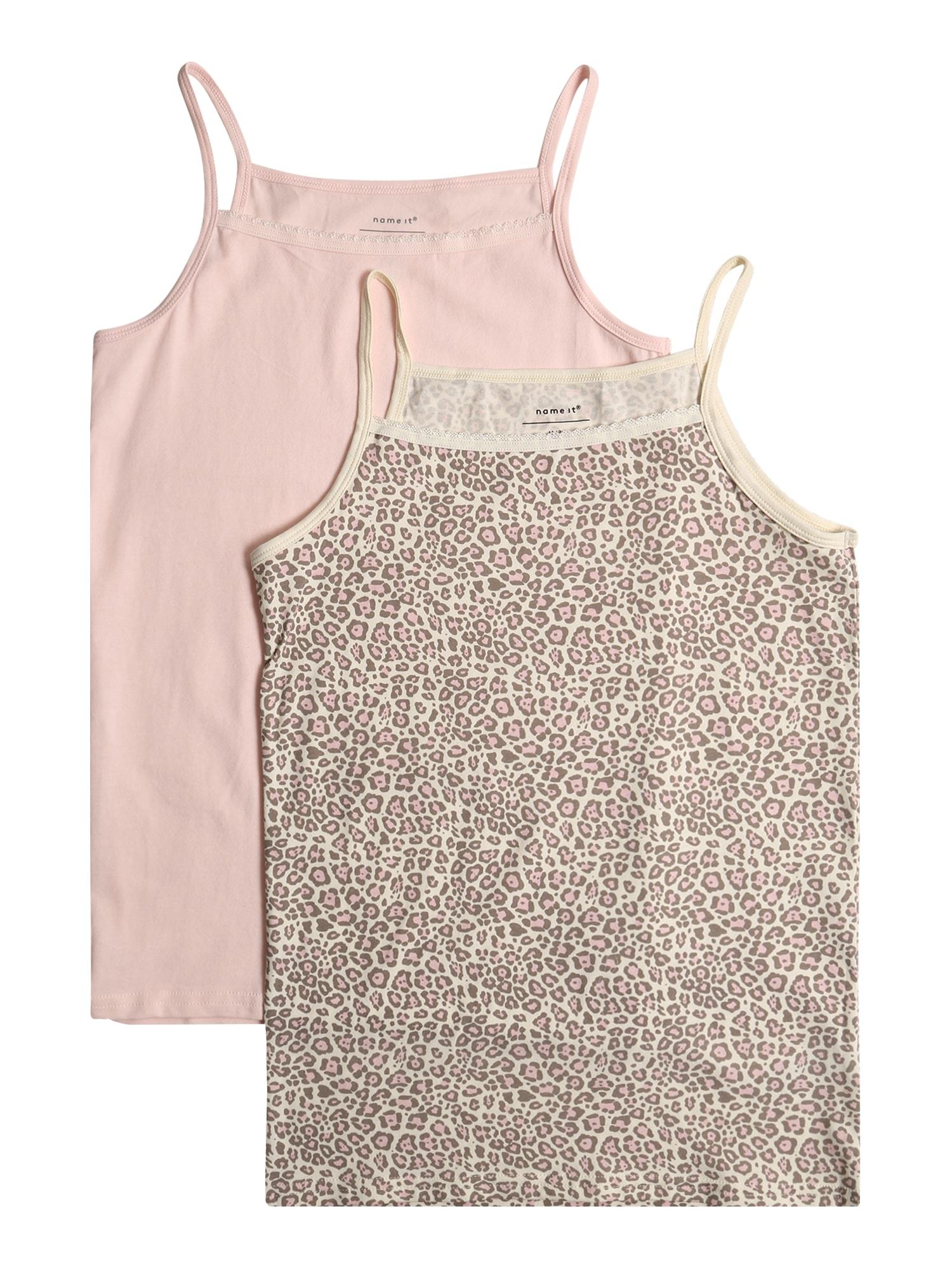 NAME IT Apatiniai marškinėliai 'STRAP' smėlio / rožių spalva