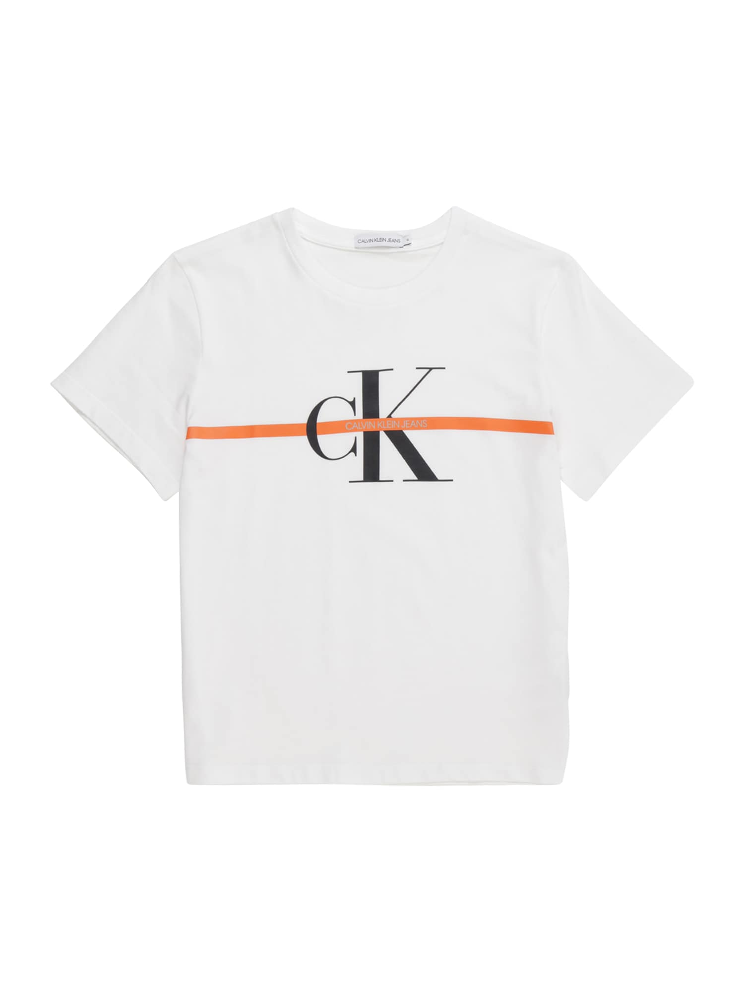 Calvin Klein Jeans Marškinėliai 'MONOGRAM' balta