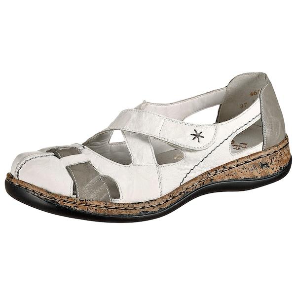 Sandalen für Frauen - Halbschuhe › RIEKER › greige weiß  - Onlineshop ABOUT YOU