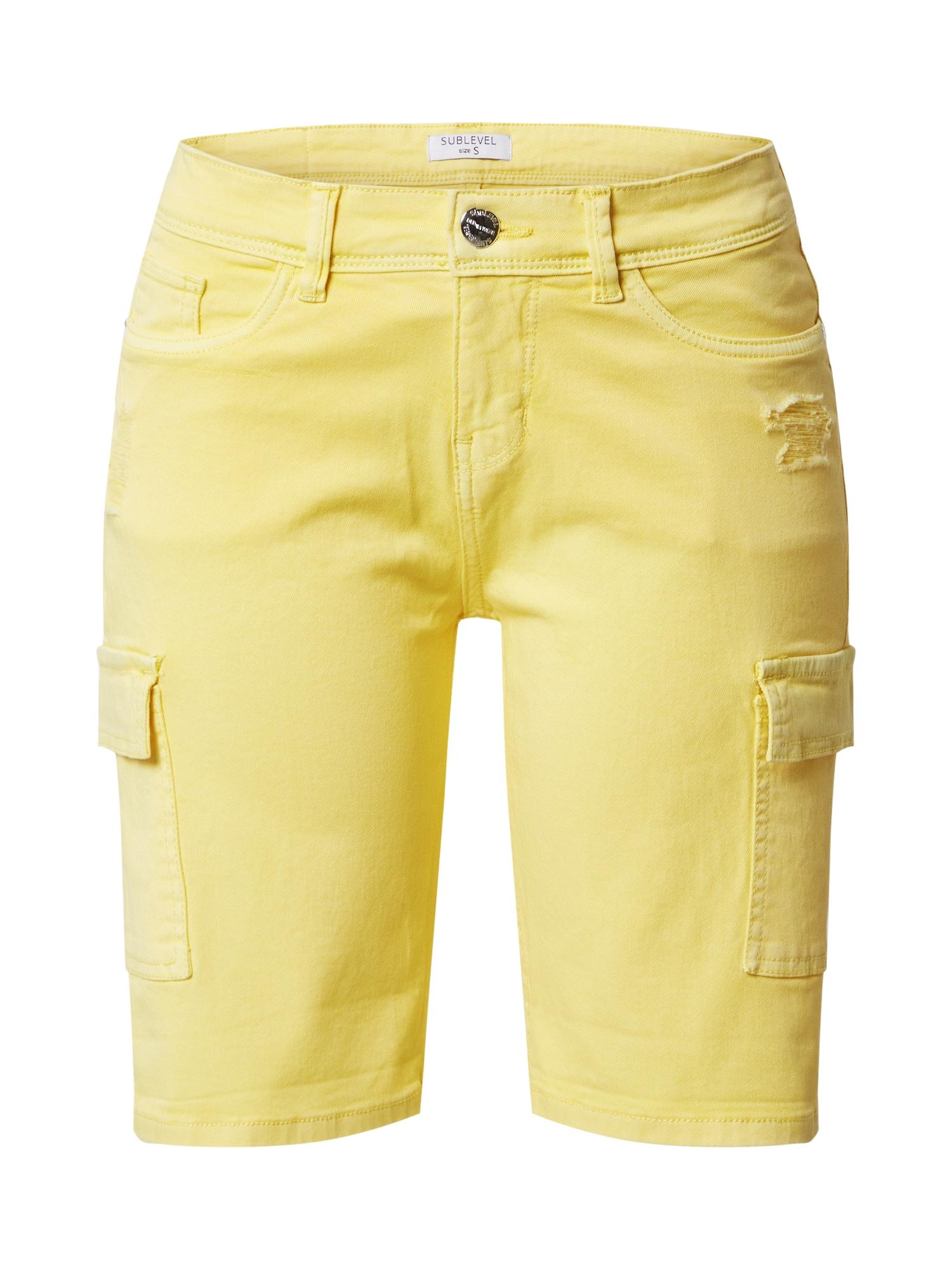 Sublevel Laisvo stiliaus kelnės geltona
