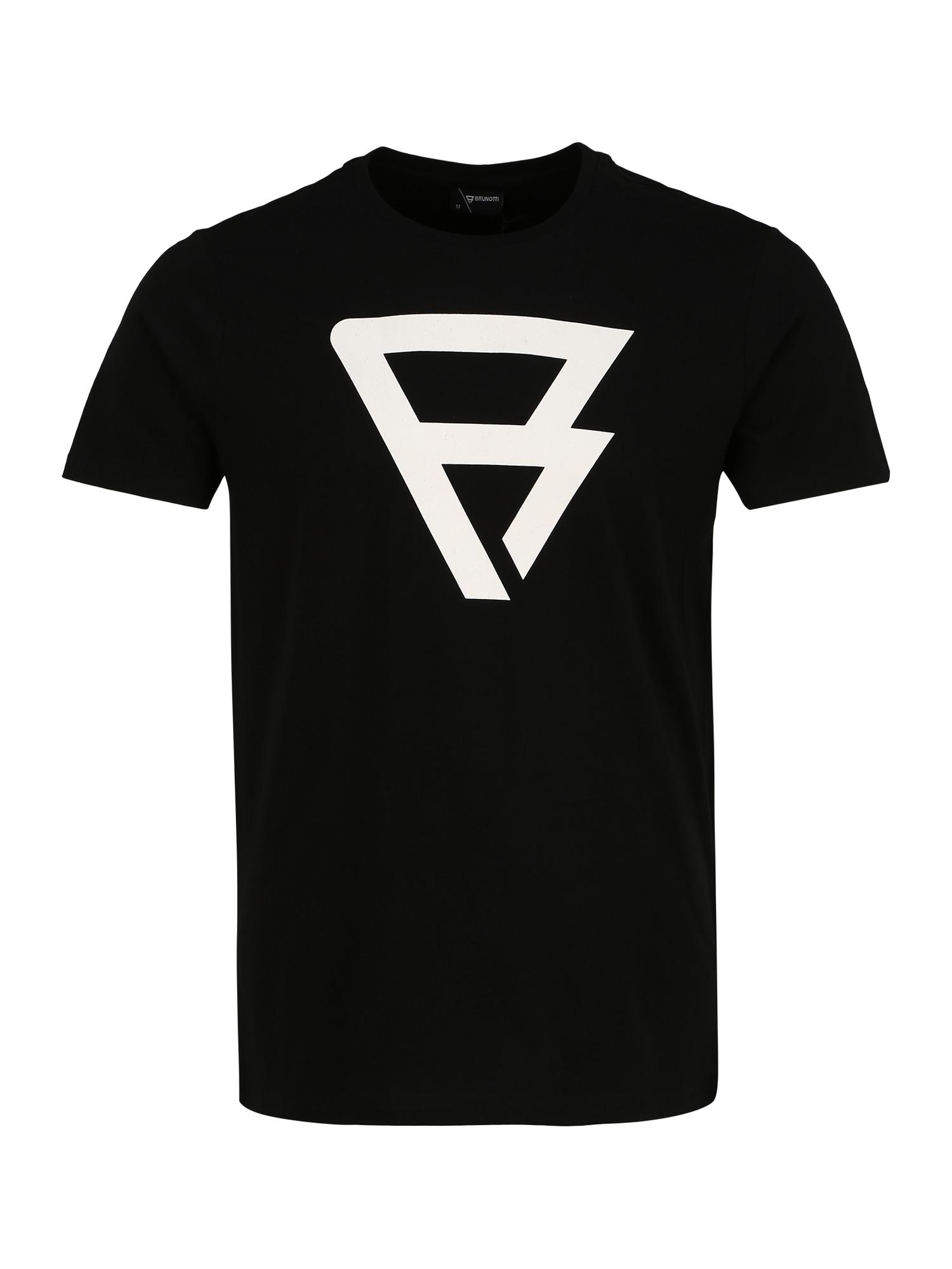 BRUNOTTI Sportiniai marškinėliai 'Herring' juoda / balta
