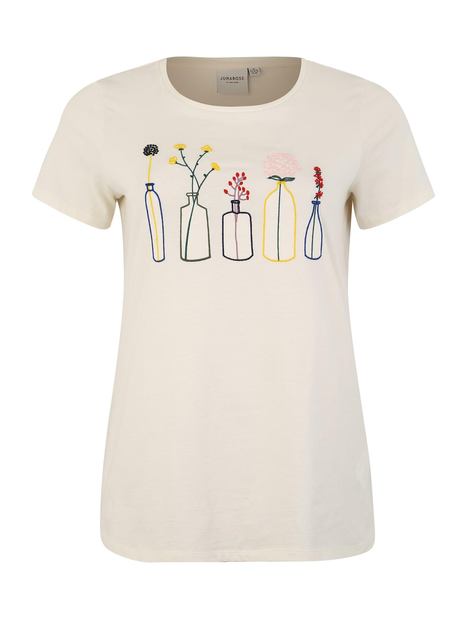 Junarose Marškinėliai 'PLANT BONJOUR' kremo