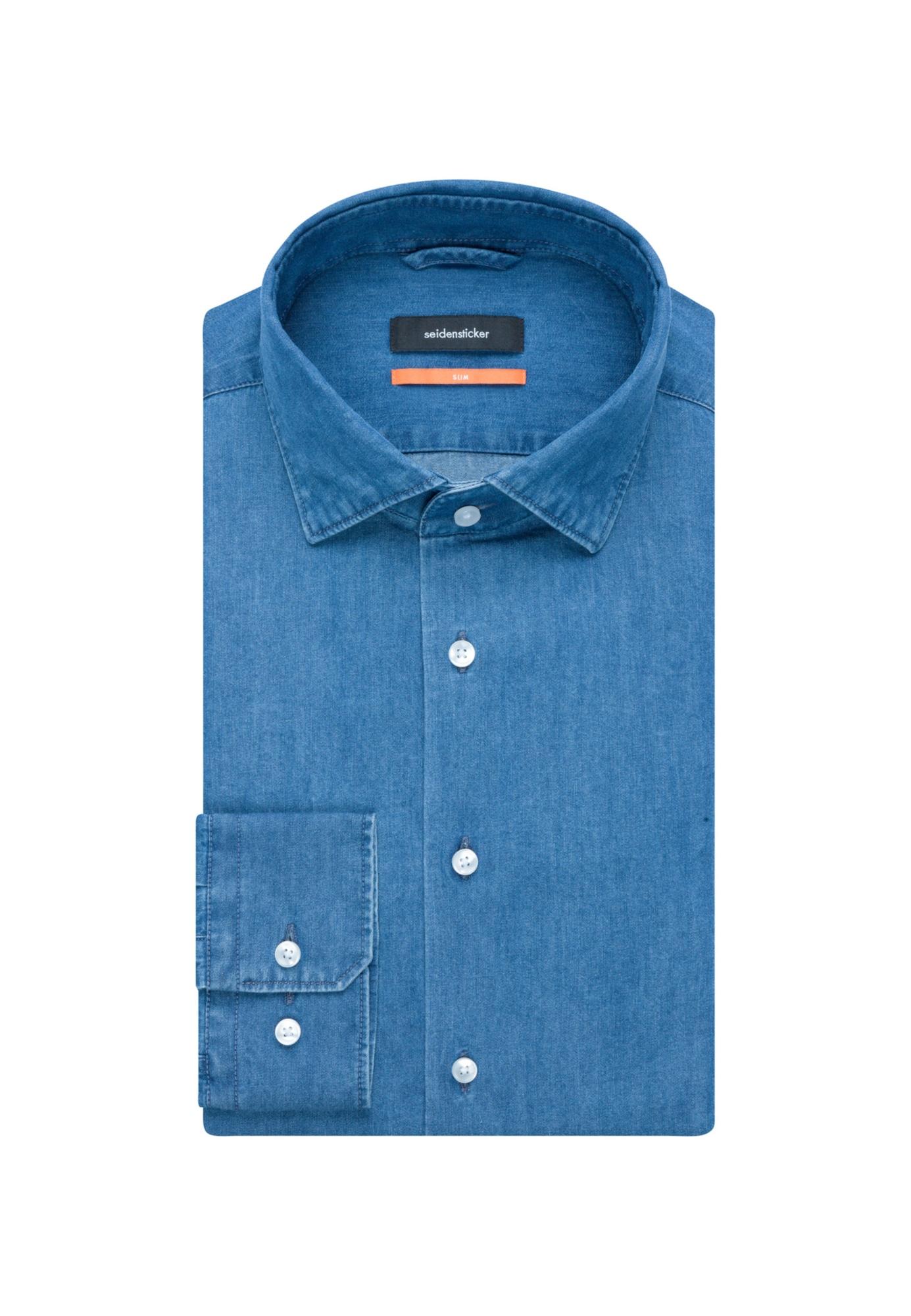 SEIDENSTICKER Dalykiniai marškiniai tamsiai (džinso) mėlyna