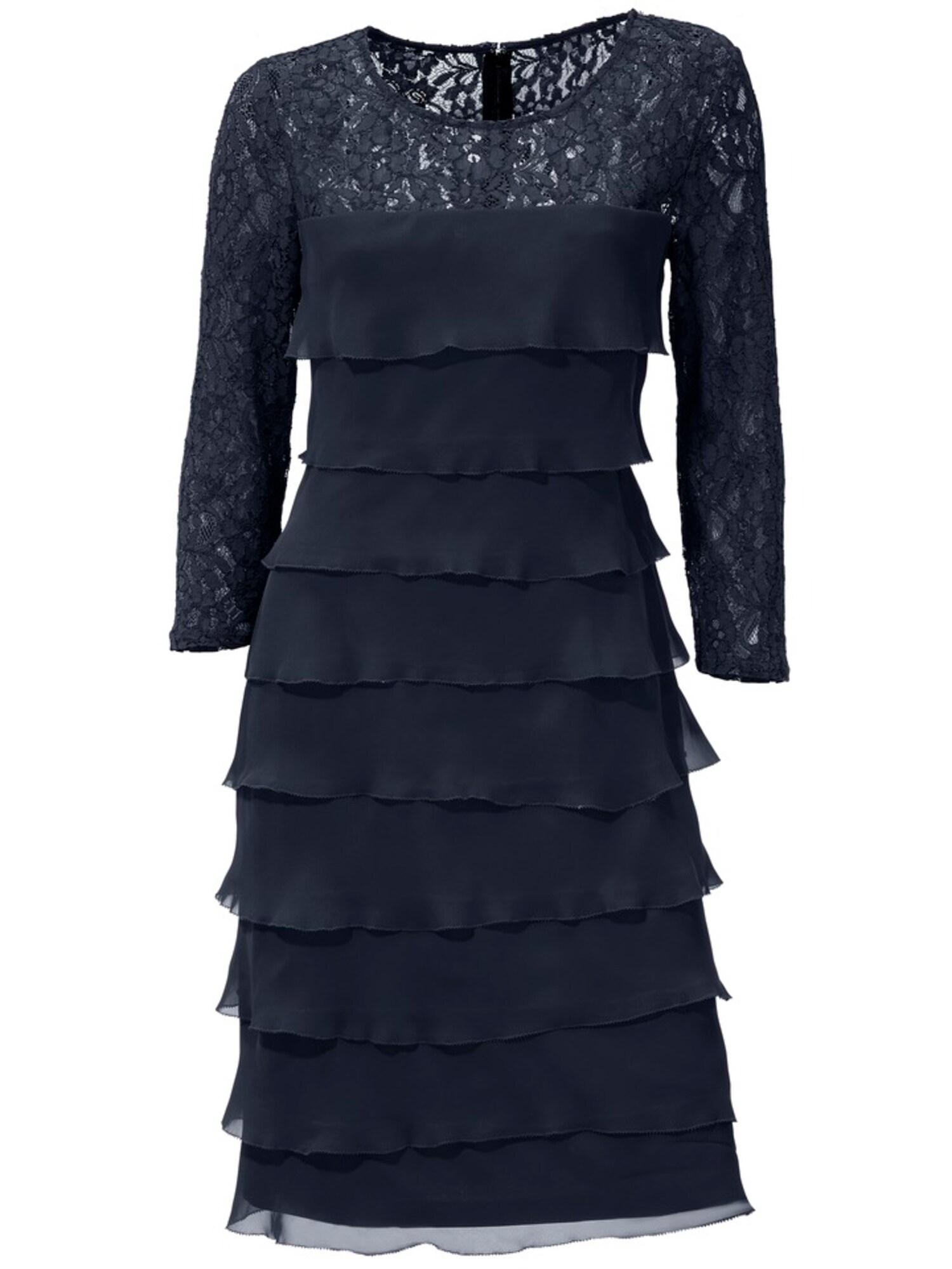 heine Koktejlové šaty  kobaltová modř