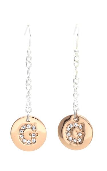 Ohrringe für Frauen - GUESS Ohrhänger 'UBE31012' bronze silber  - Onlineshop ABOUT YOU