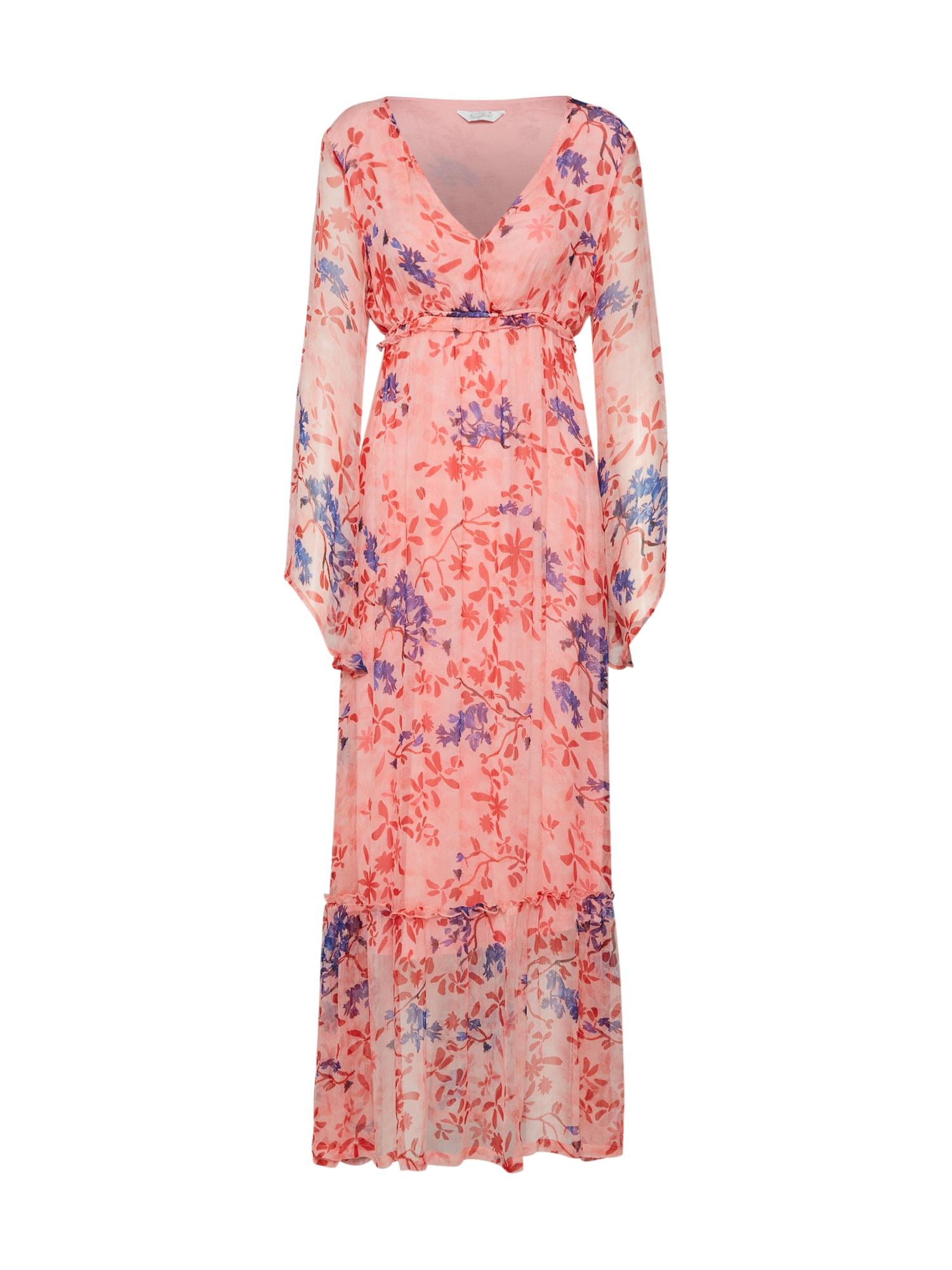 Letní šaty Long Dress Romantic Flowers červená Frogbox