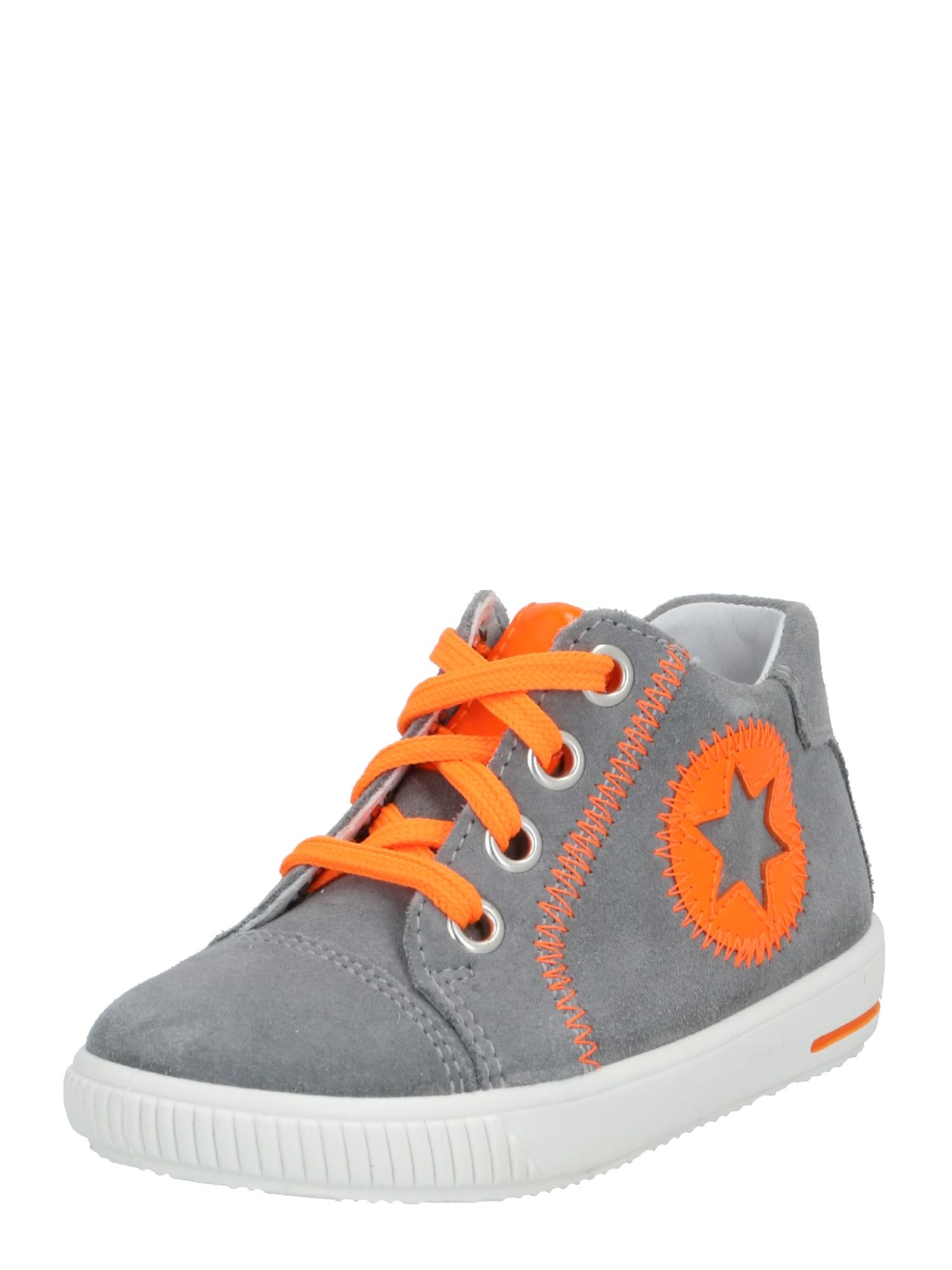 SUPERFIT Obuv na prvé kroky  sivá / oranžová