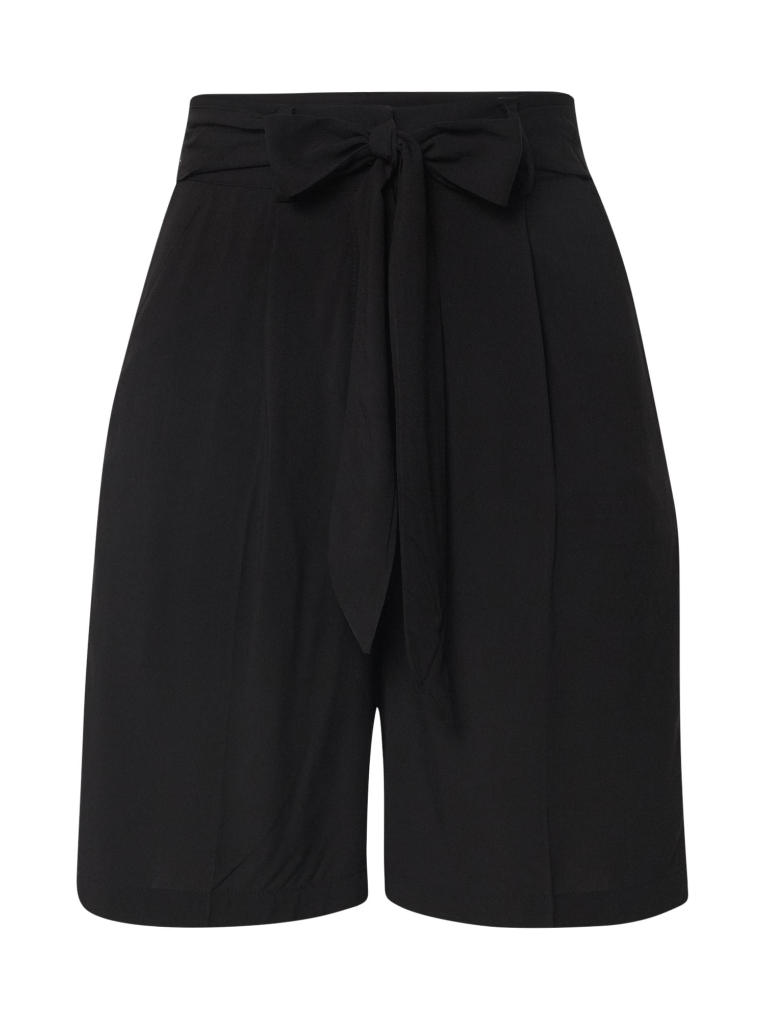 EDITED Klostuotos kelnės 'Dunja' juoda