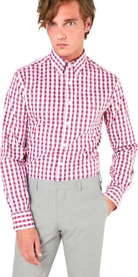 GANT Overhemd 'O1. HEATHER OXF GINGHAM'