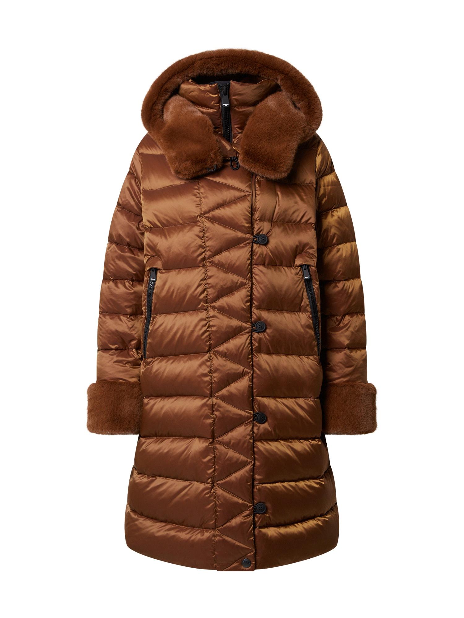 Blauer.USA Demisezoninis paltas ruda (konjako)