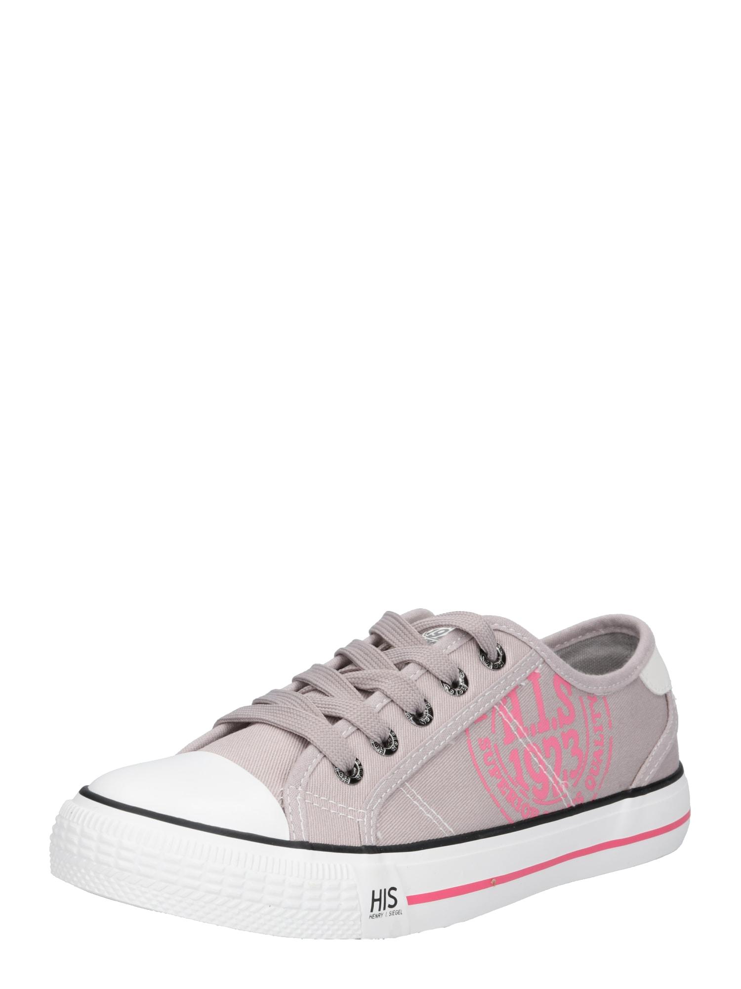 Tenisky světle šedá pink H.I.S