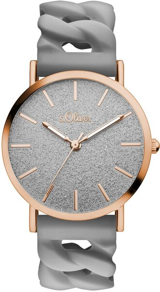 Uhren für Frauen - S.Oliver RED LABEL Quarzuhr 'SO 3398 PQ' rosegold dunkelgrau  - Onlineshop ABOUT YOU