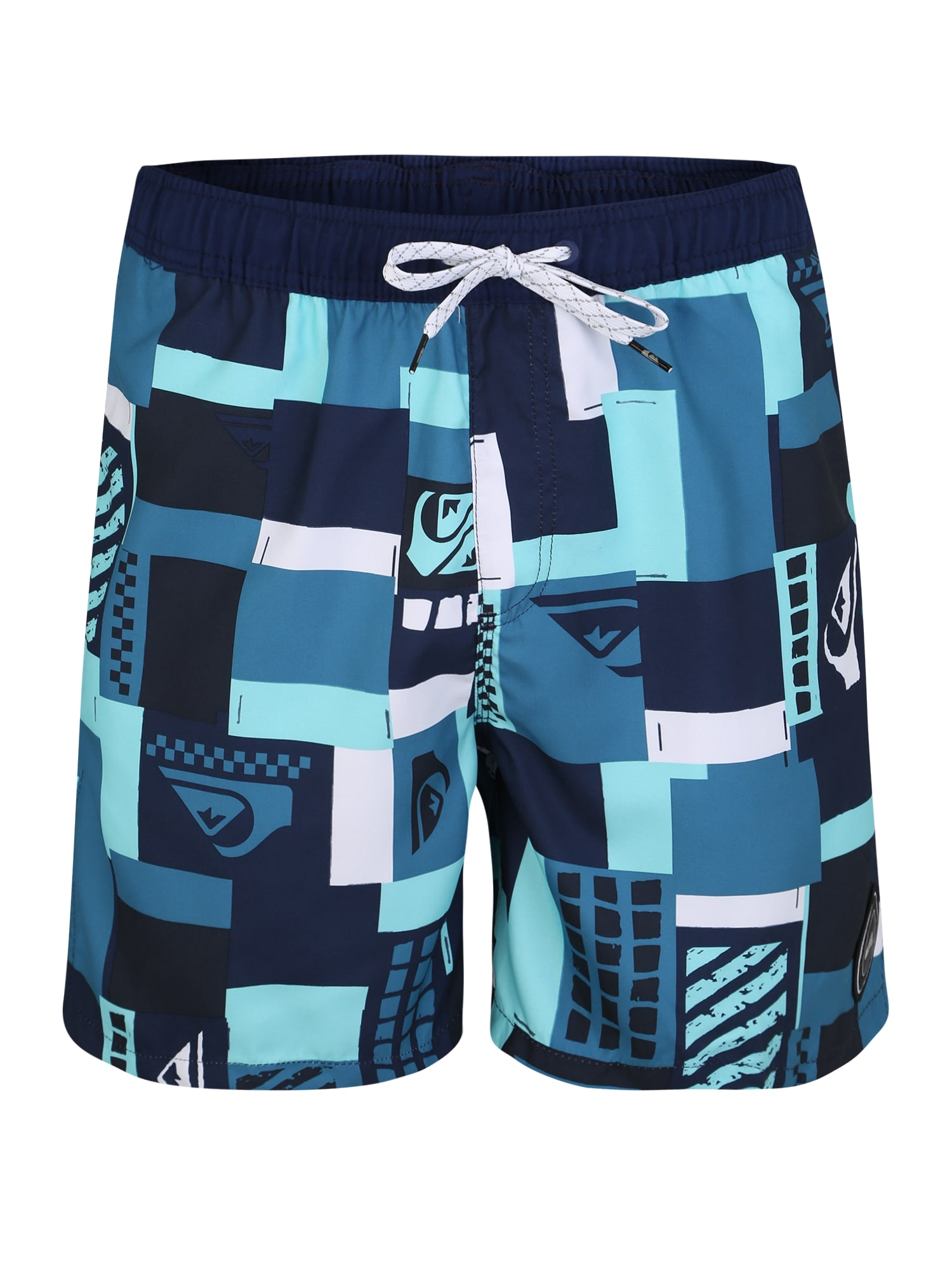 Plavecké šortky CITY BLOCK VOLLEY 17 modrá mix barev QUIKSILVER