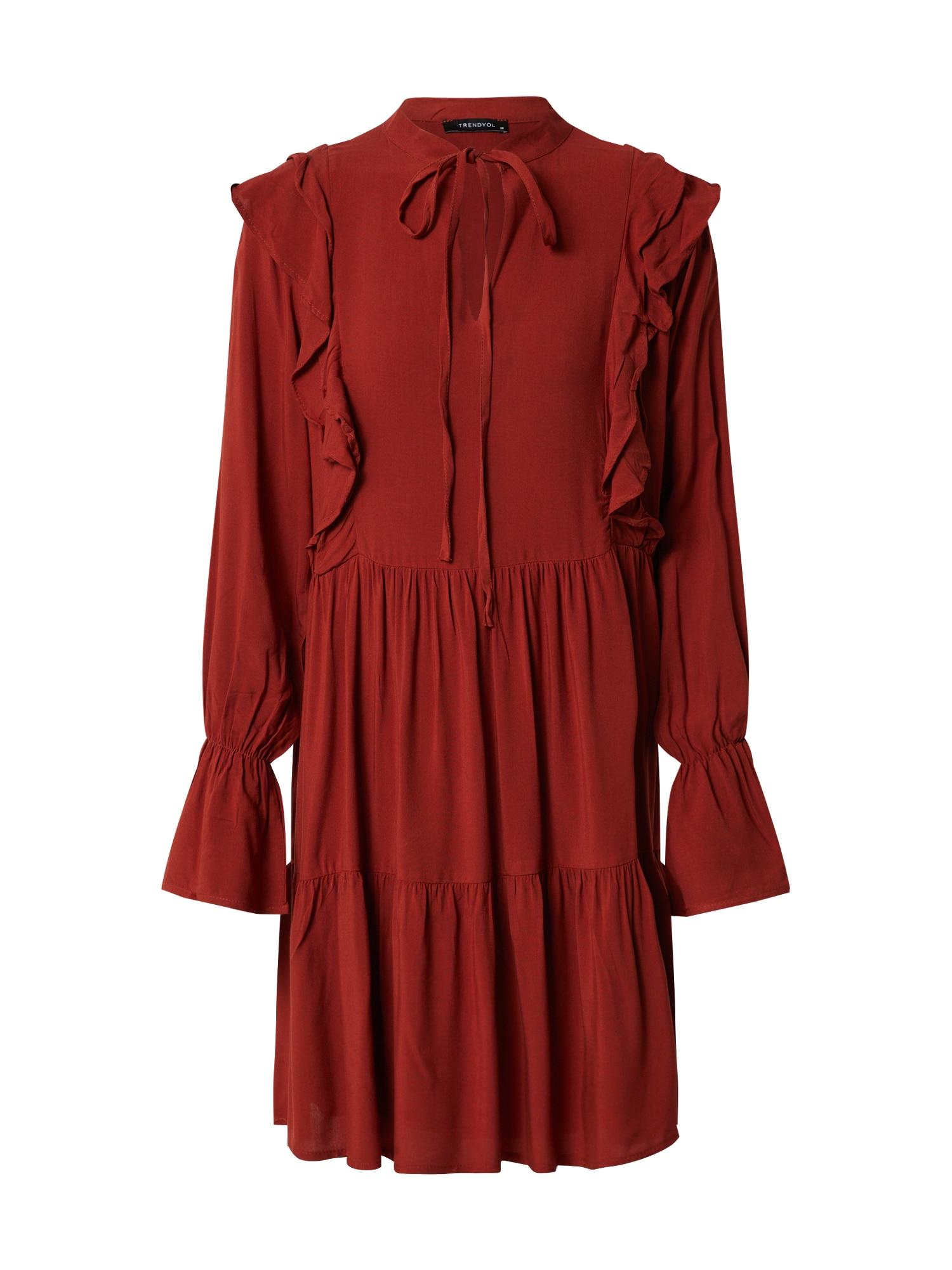 Trendyol Palaidinės tipo suknelė oranžinė-raudona