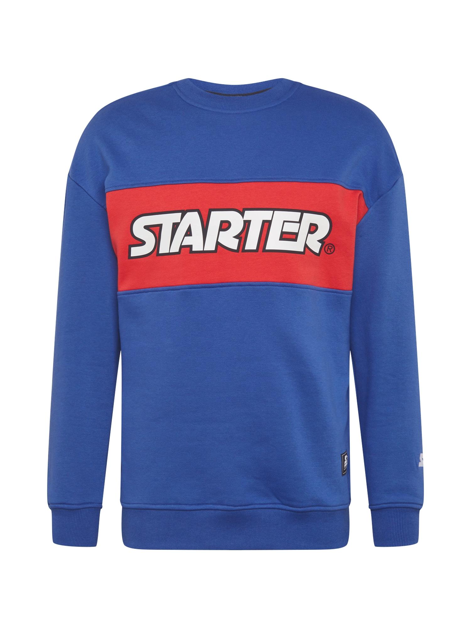 "Starter Black Label Megztinis be užsegimo sodri mėlyna (""karališka"") / granatų spalva / balta / juoda"