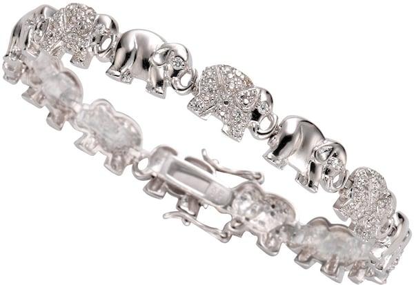 Armbaender für Frauen - FIRETTI Armband »Elefanten« mit Zirkonia silber  - Onlineshop ABOUT YOU