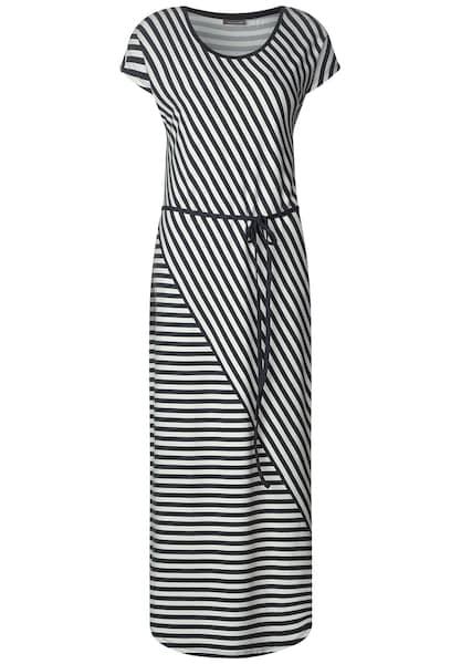 Kleider für Frauen - STREET ONE Jersey Kleid grau schwarz  - Onlineshop ABOUT YOU