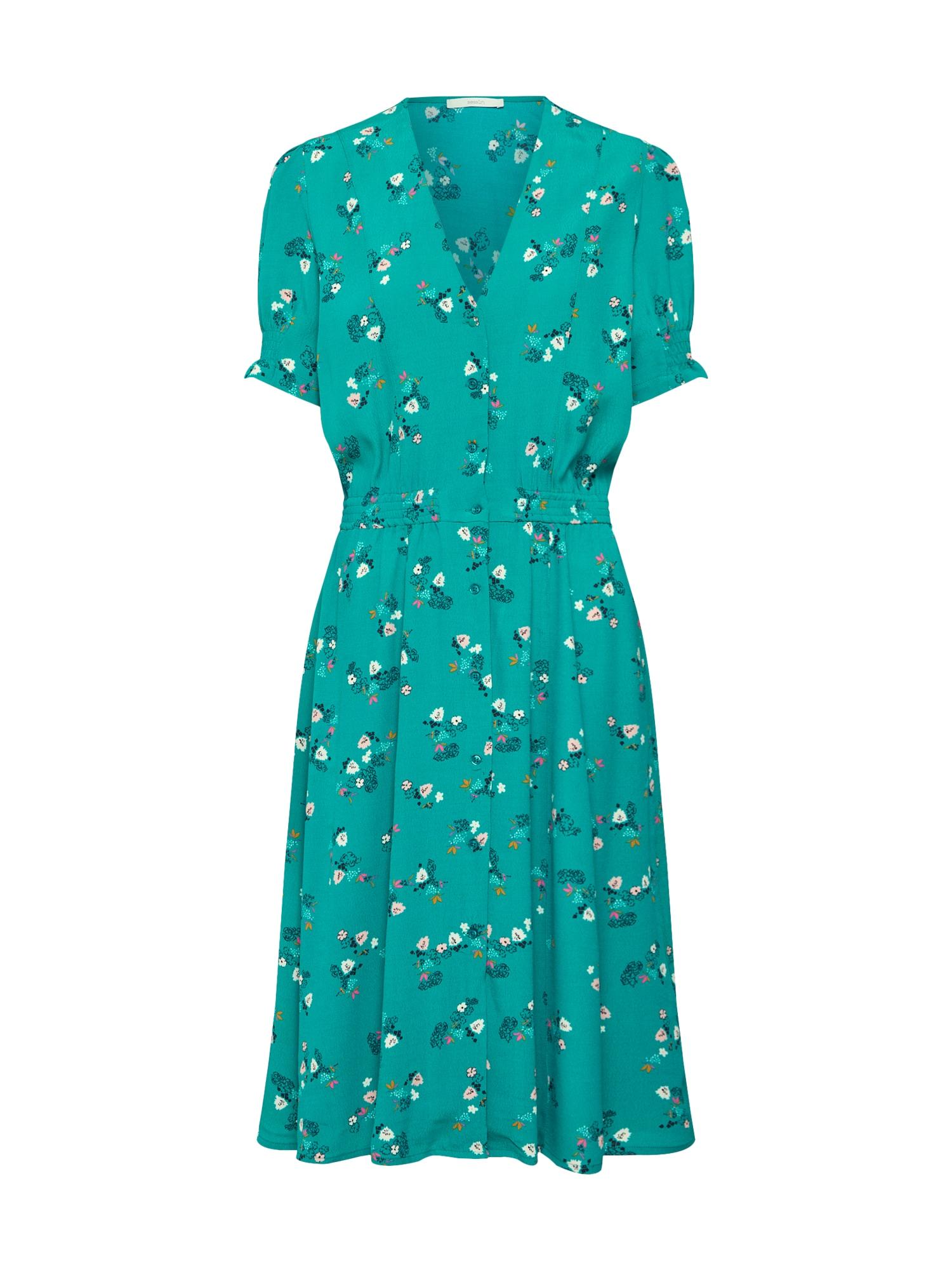 Šaty nefritová mix barev Sessun