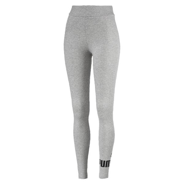 Hosen - 'Essentials Logo' Leggings › Puma › graumeliert  - Onlineshop ABOUT YOU