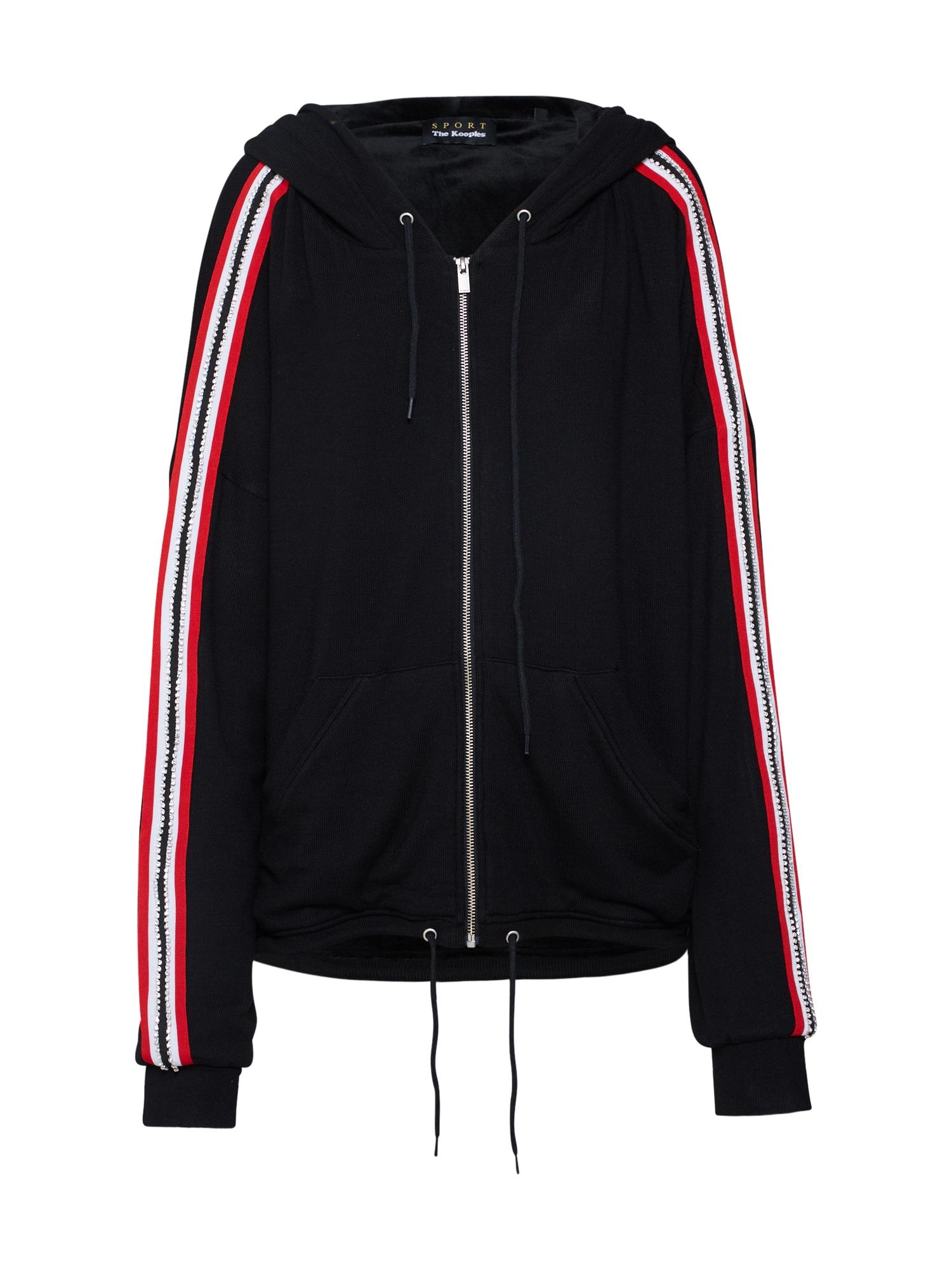 Mikina s kapucí červená černá THE KOOPLES SPORT
