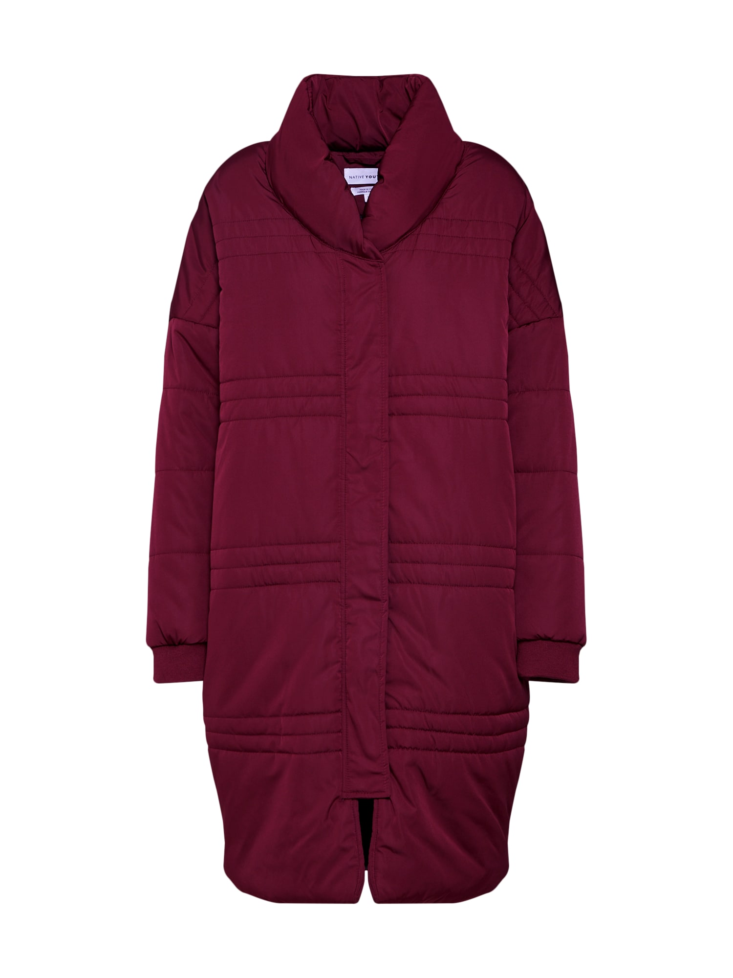 Zimní kabát NUBLU PUFFER JACKET burgundská červeň Native Youth