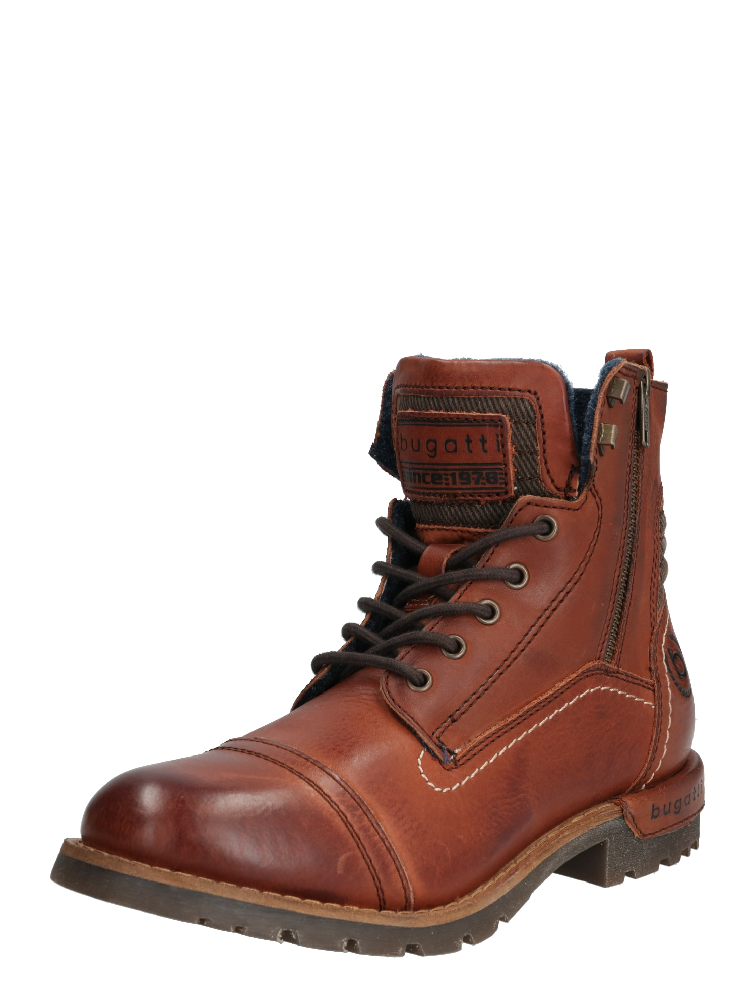 bugatti Auliniai batai su kulniuku 'Sentra' ruda