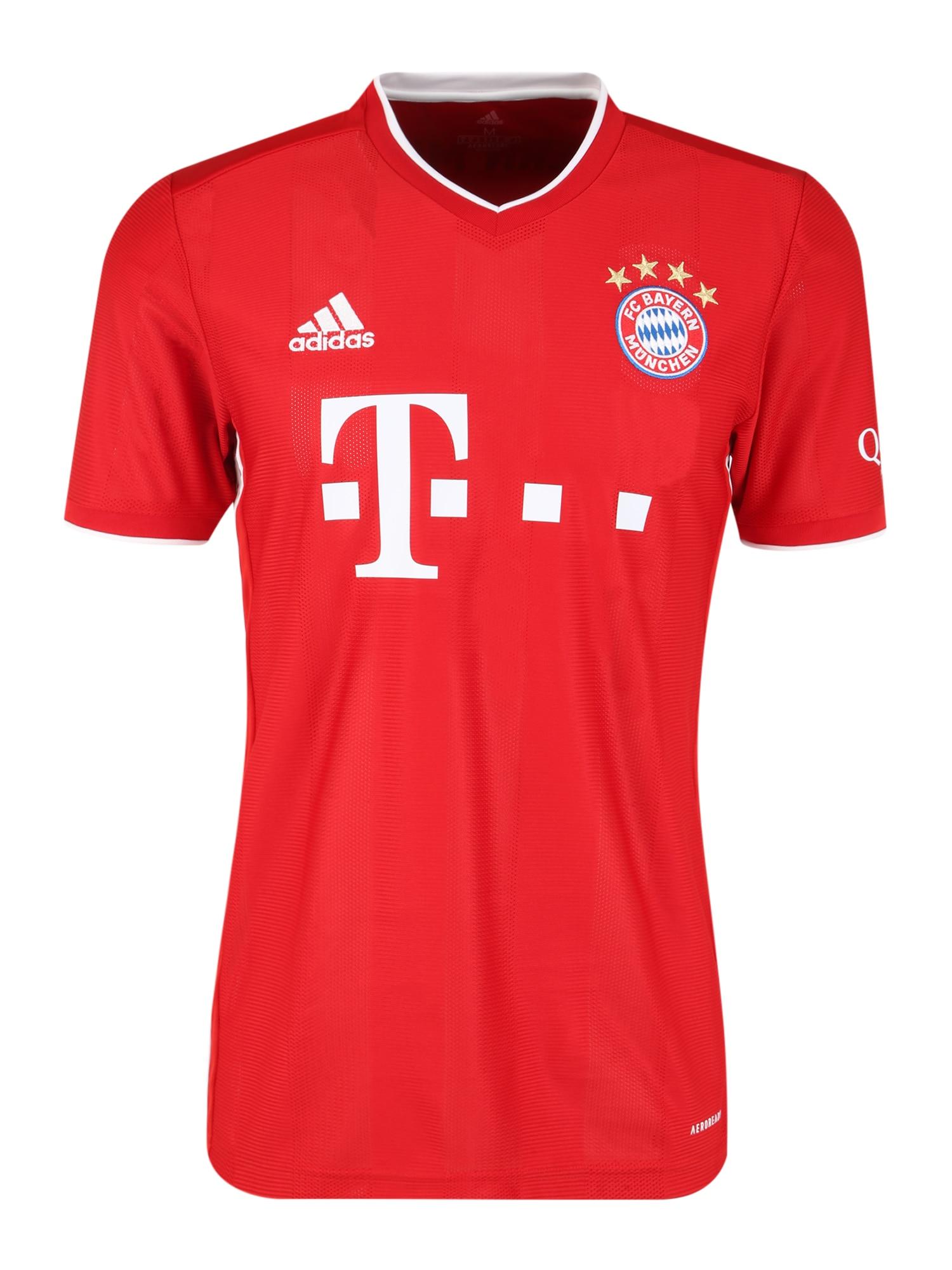 ADIDAS PERFORMANCE Dres 'FCB Heim 2020/2021'  červené / biela