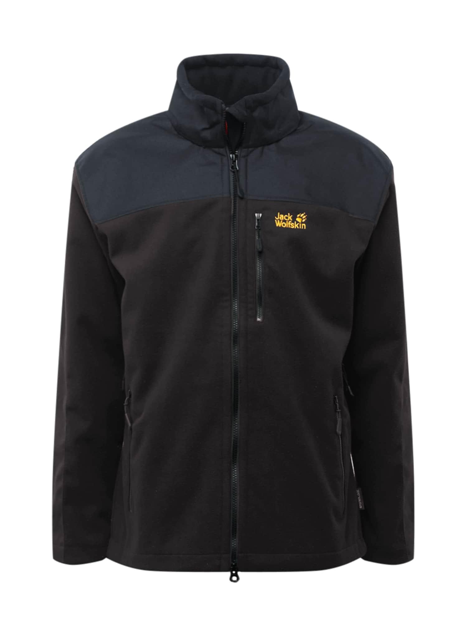 JACK WOLFSKIN Sportovní bunda 'BLIZZARD'  černá / oranžová