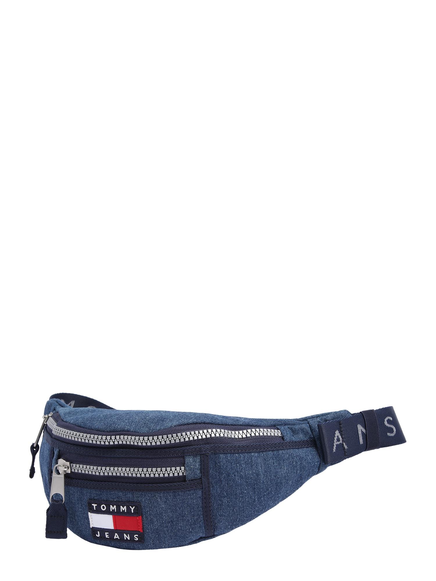 Tommy Jeans Rankinė ant juosmens 'TJW HERITAGE BUMBAG DENIM' tamsiai (džinso) mėlyna
