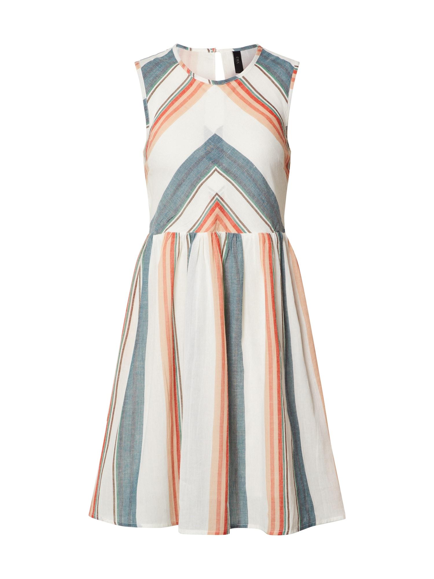 Y.A.S Vasarinė suknelė 'FREYDIS' benzino spalva / smėlio / oranžinė / tamsiai mėlyna / balta