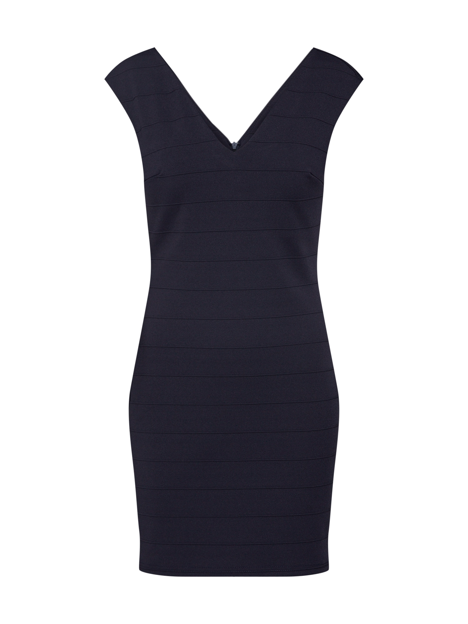 Koktejlové šaty V NECK STRETCH BODYCON námořnická modř Mela London