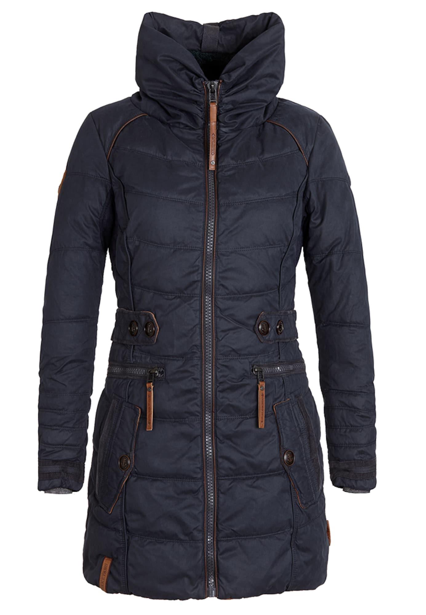 naketano Žieminis paltas 'Knastrologin' bronzinė / tamsiai mėlyna