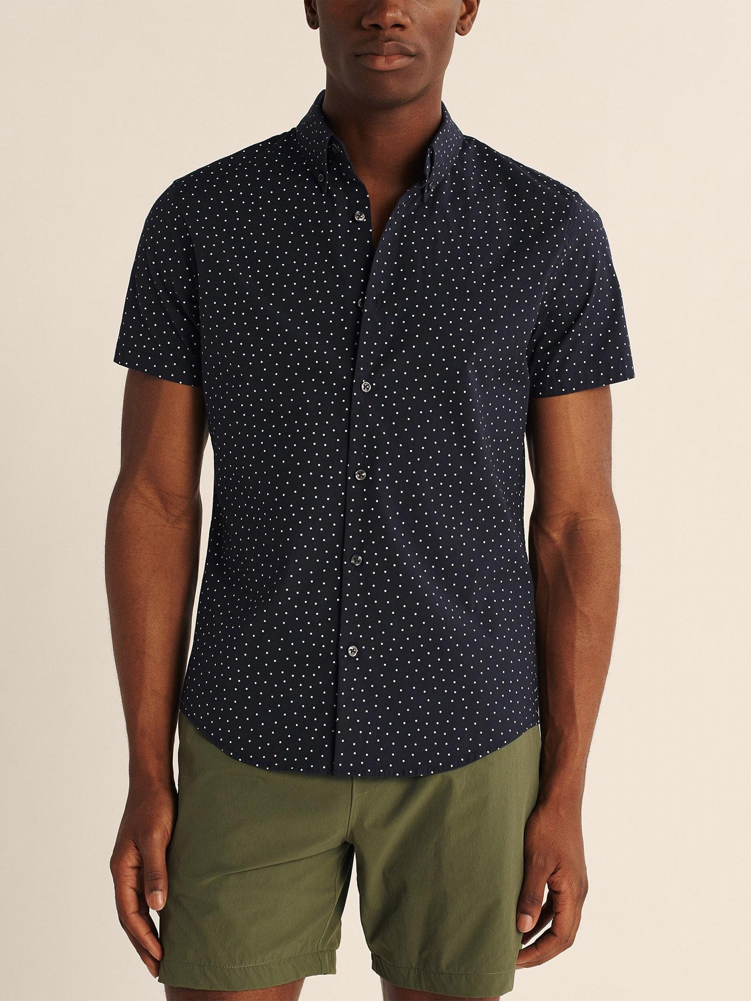 Abercrombie & Fitch Skjorta  marinblå / vit