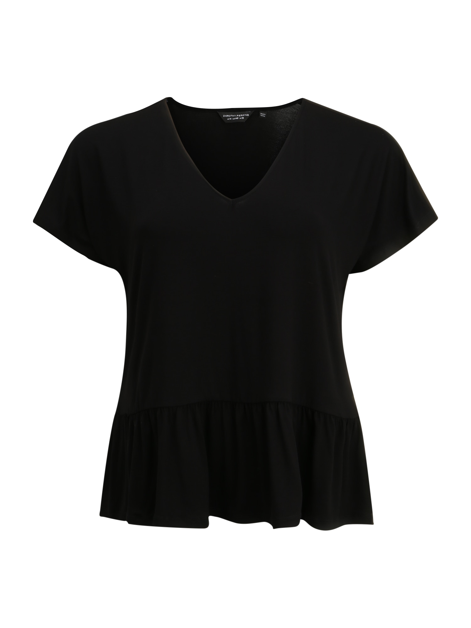 Dorothy Perkins Curve Tričko 'Curve Peplum'  čierna