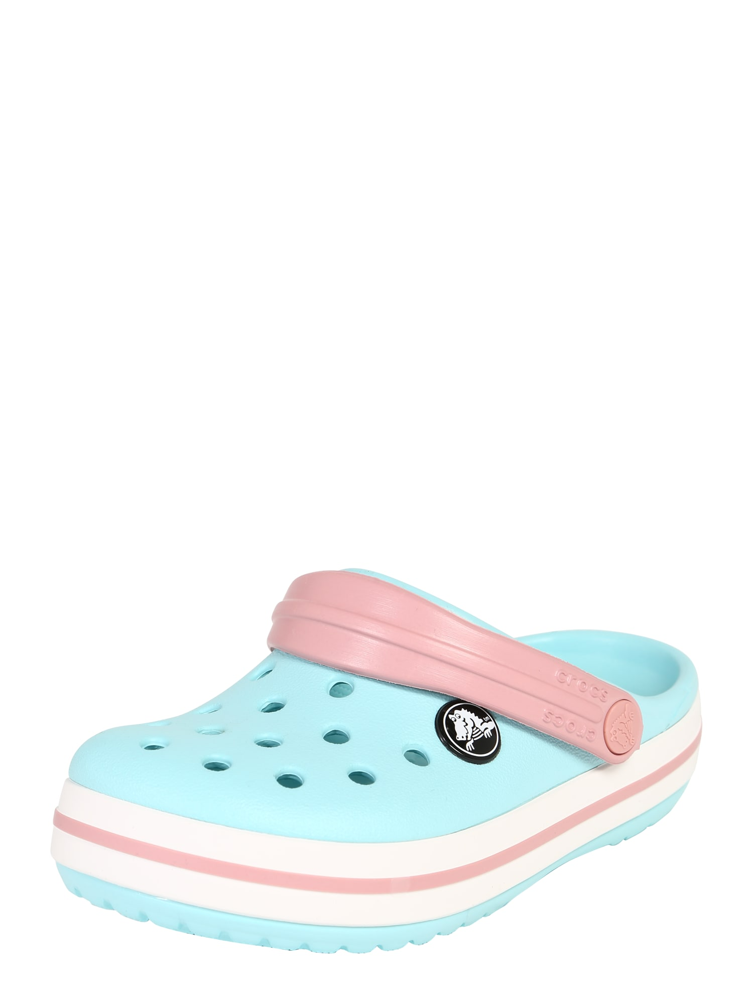 Crocs Atviri batai rožių spalva / šviesiai mėlyna