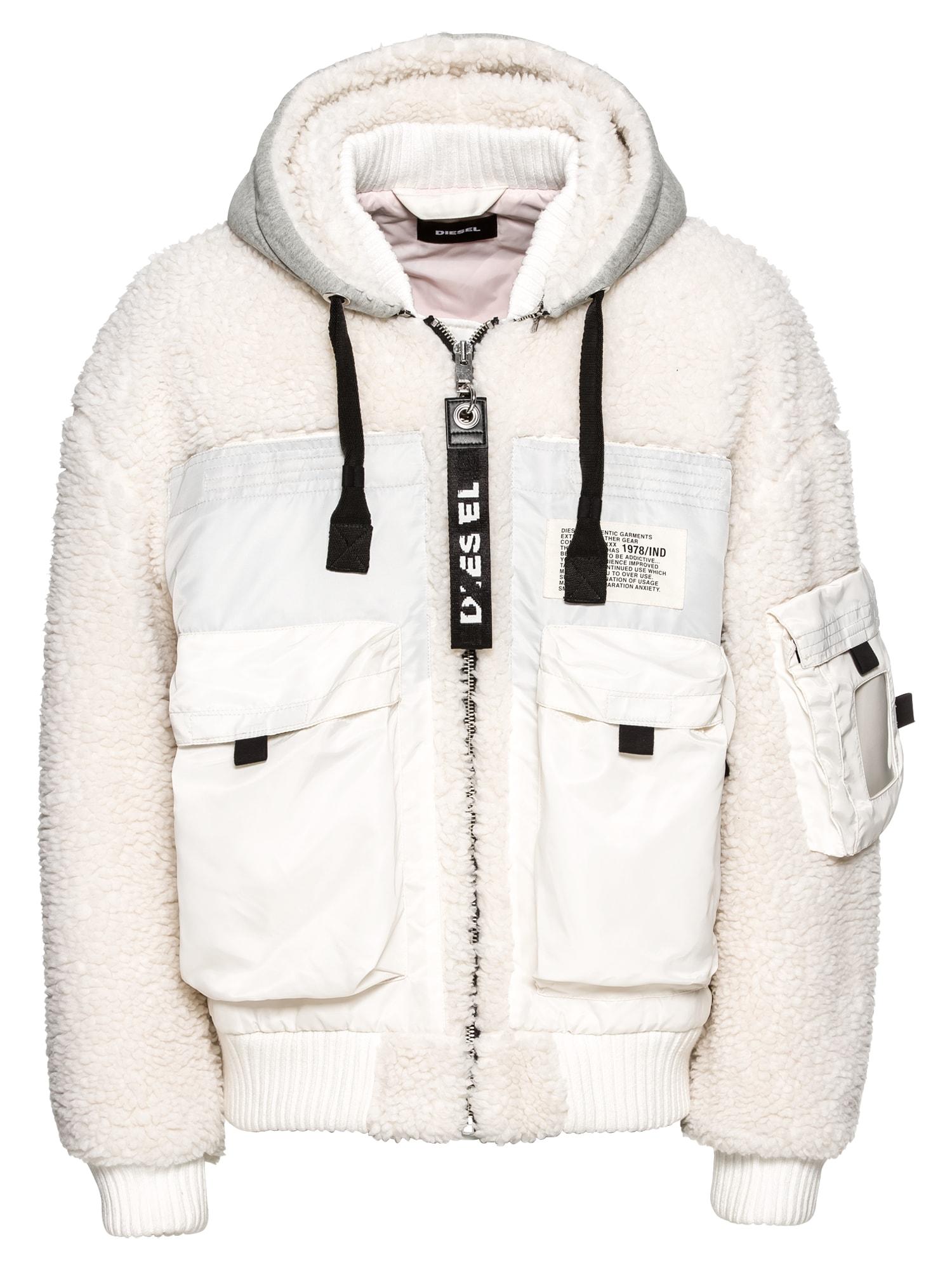 Zimní bunda W-PATTY JACKE bílá DIESEL