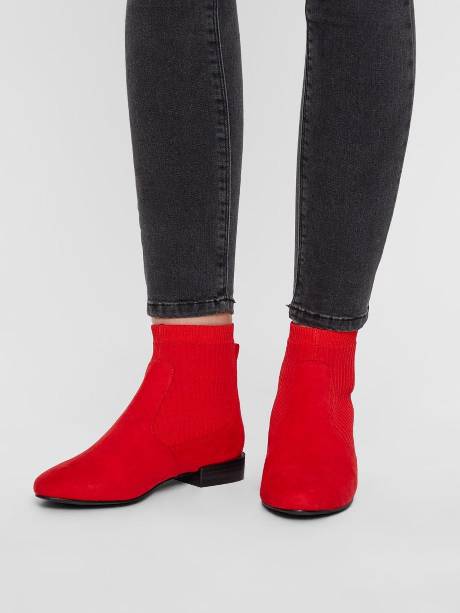 Bianco, Damen Chelsea boots Anne, lichtrood / zwart gemêleerd