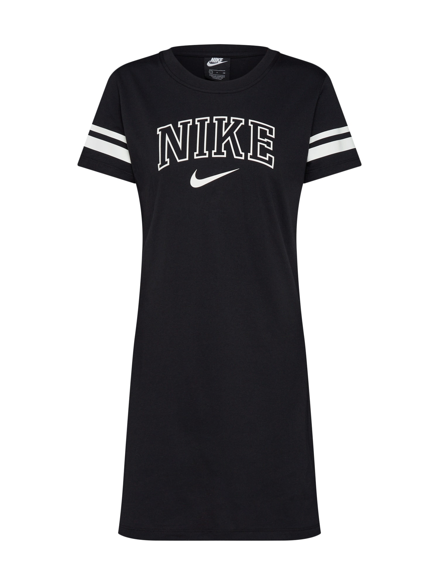 Šaty W NSW DRESS VRSTY černá bílá Nike Sportswear