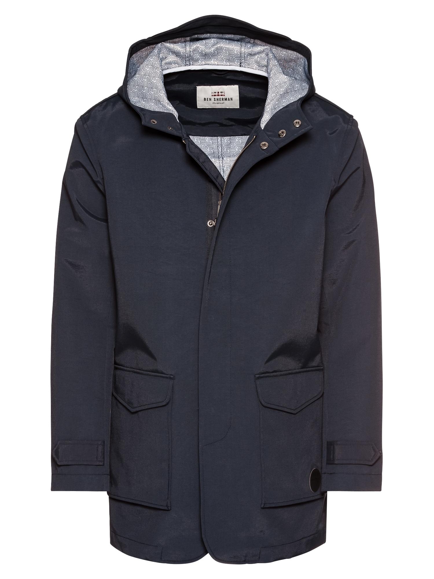 Přechodná bunda Hooded Mac námořnická modř Ben Sherman