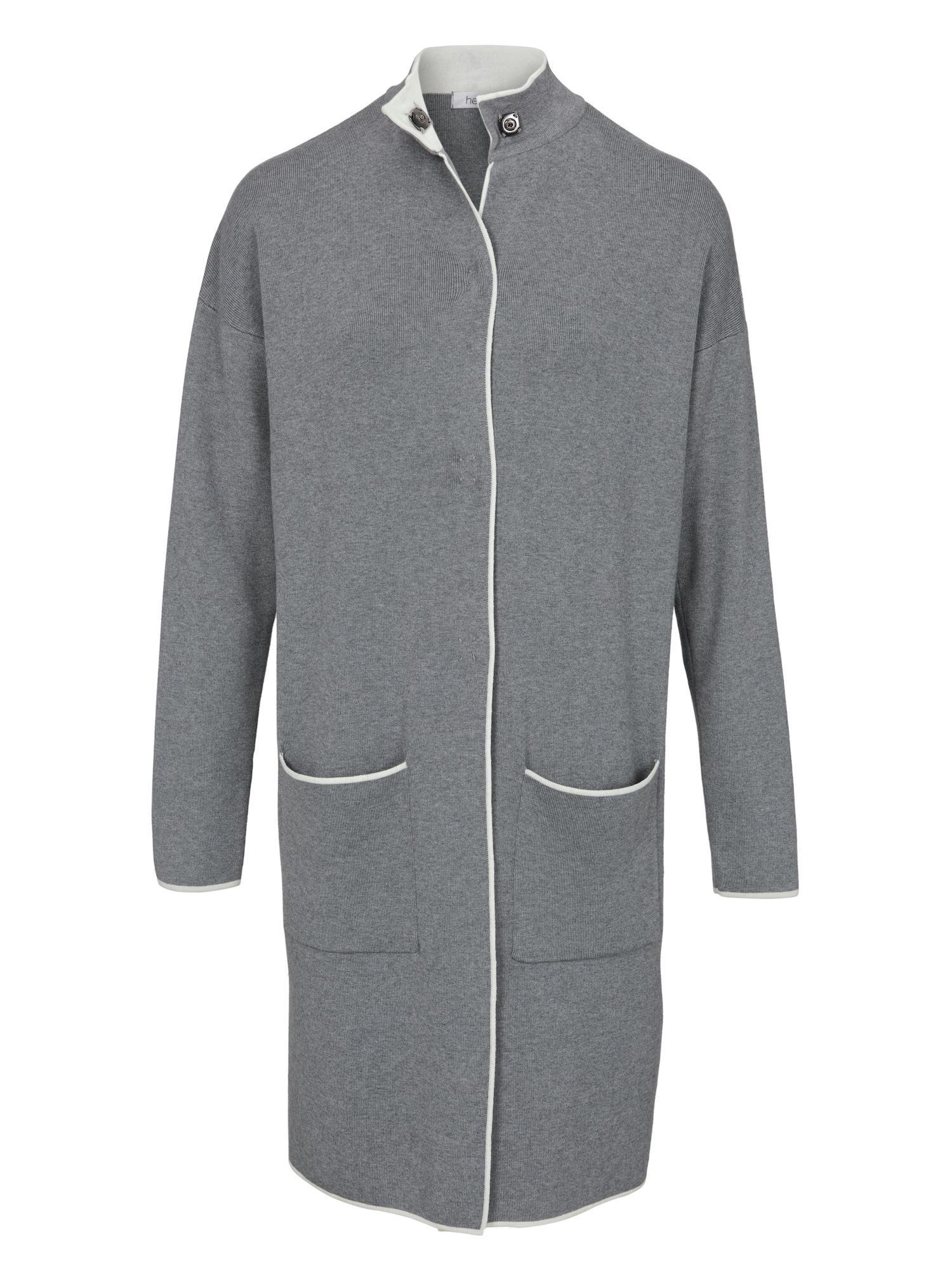 Pletený kabátek šedá Heine