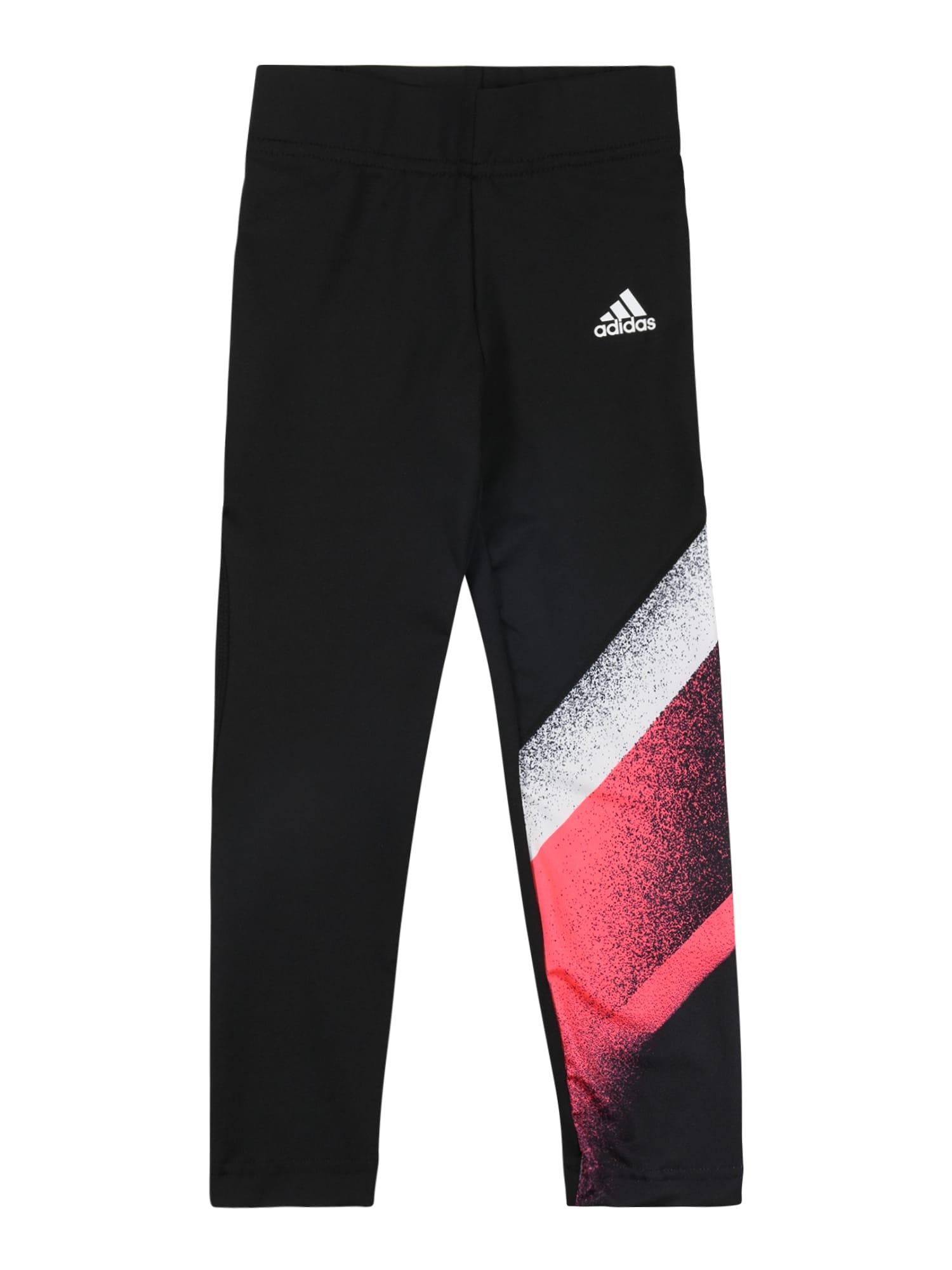 ADIDAS PERFORMANCE Sportovní kalhoty  černá / bílá / červená